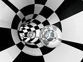Tunnel Checker Sphere Glass