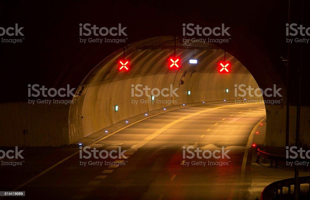 Tunnel closed stock photo