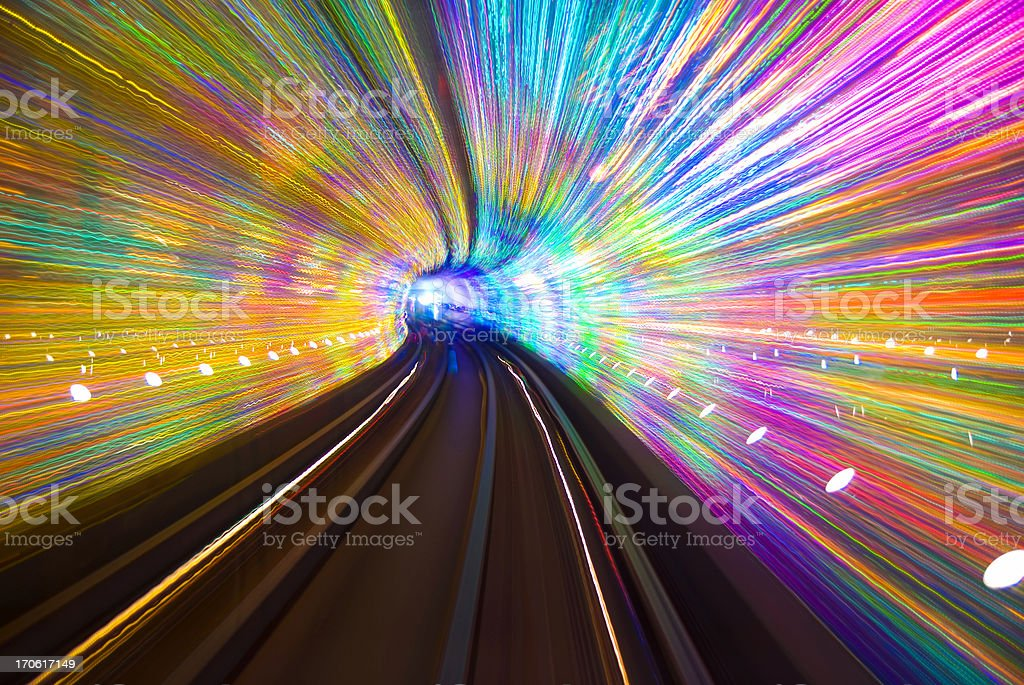 Disco Tunnel royalty-free stock photo