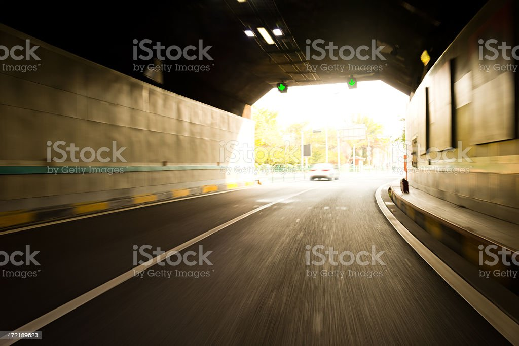 tunnel drive royalty-free stock photo