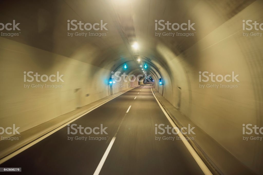 Tunnel Drive stock photo