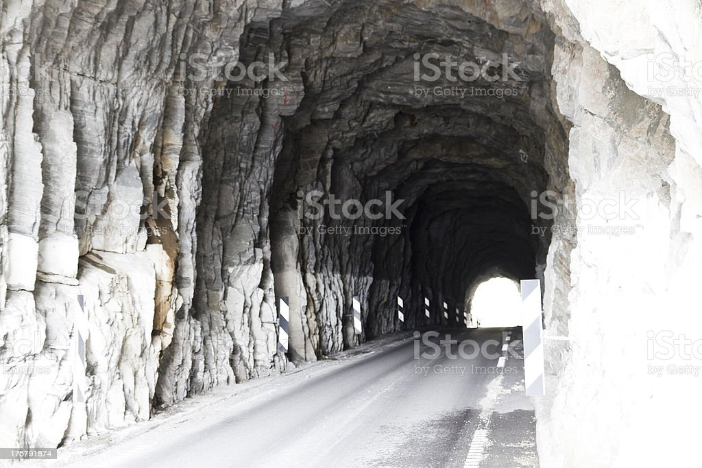 tunnel for cars in norway, europe stock photo
