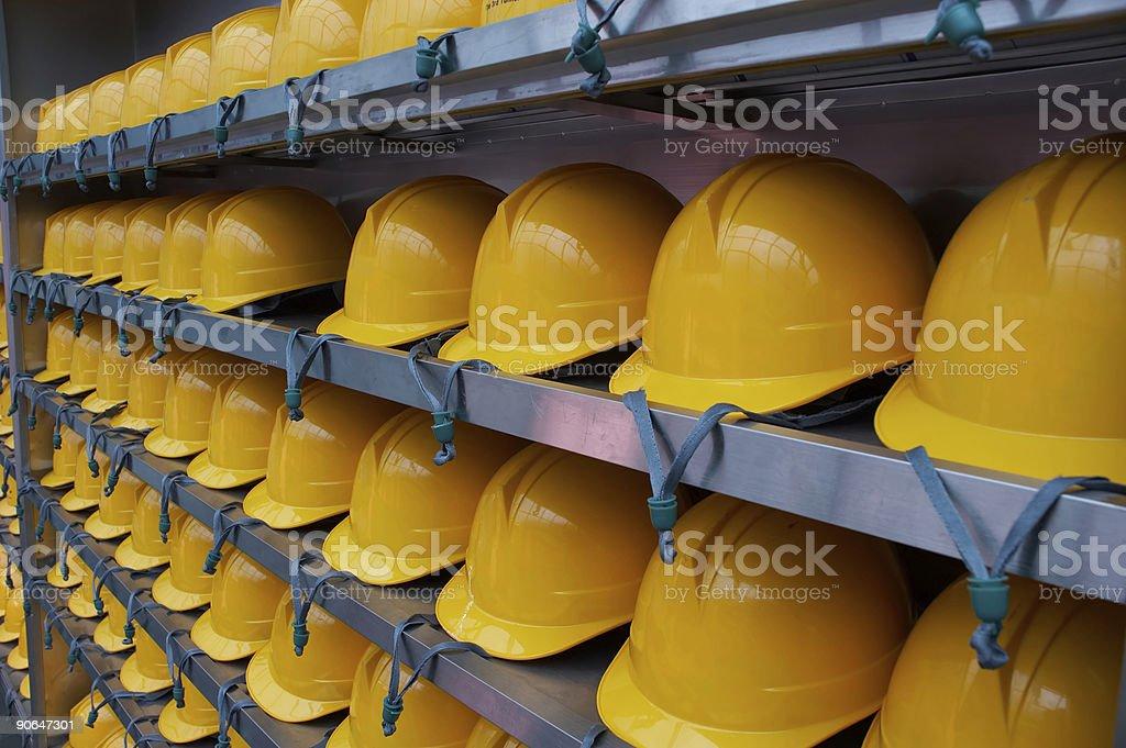 DMZ Tunnel Hardhats (left VP) stock photo