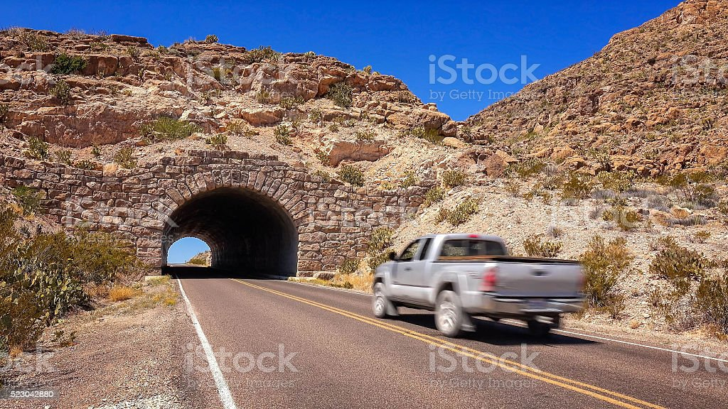 Tunnel in Big Bend National Park stock photo