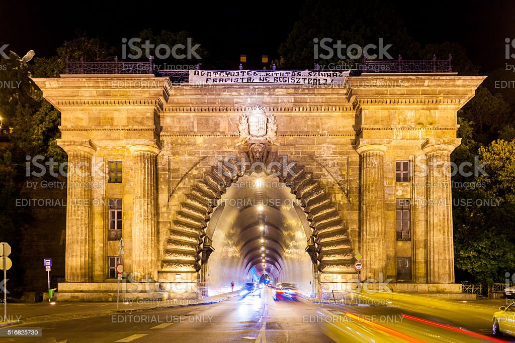 Tunnel in Budapest, Hungary stock photo