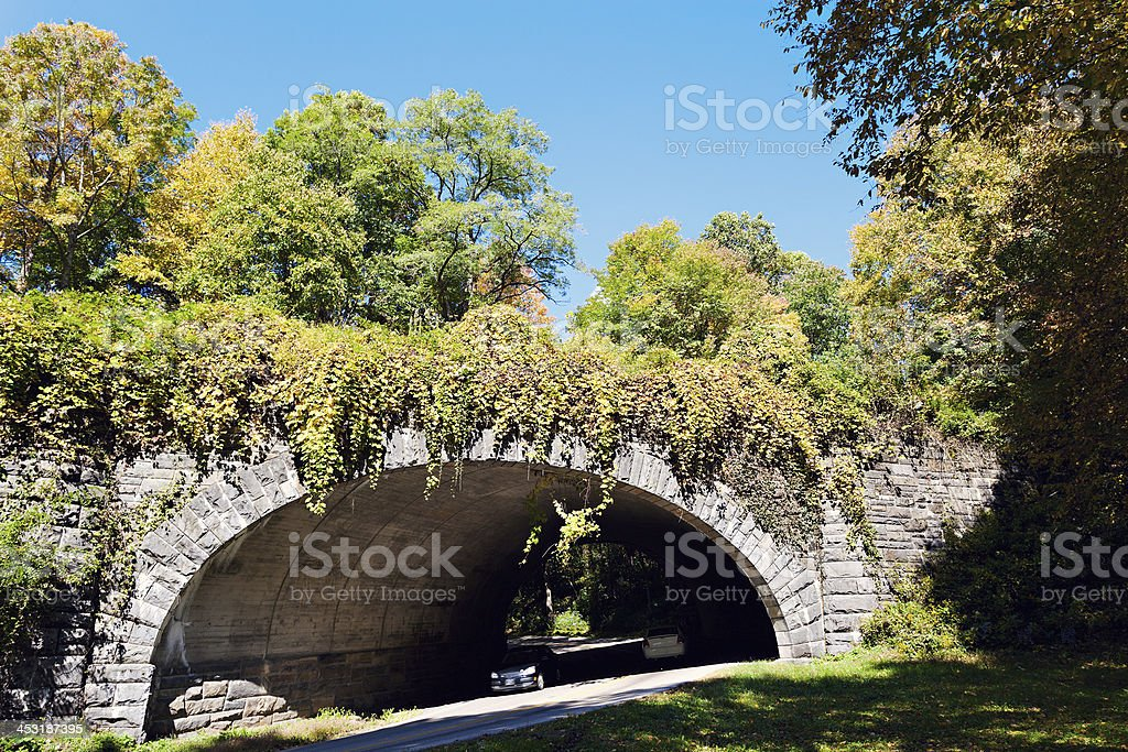 Tunnel in Smoky Mountains royalty-free stock photo