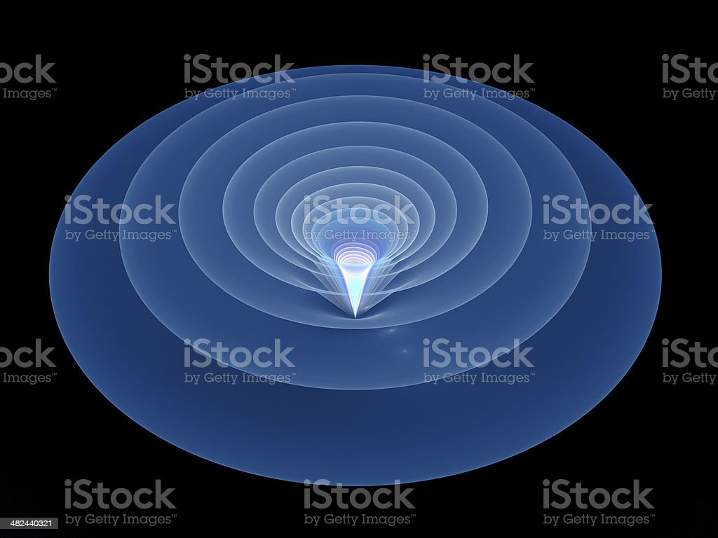 Tunnel in space royalty-free stock photo