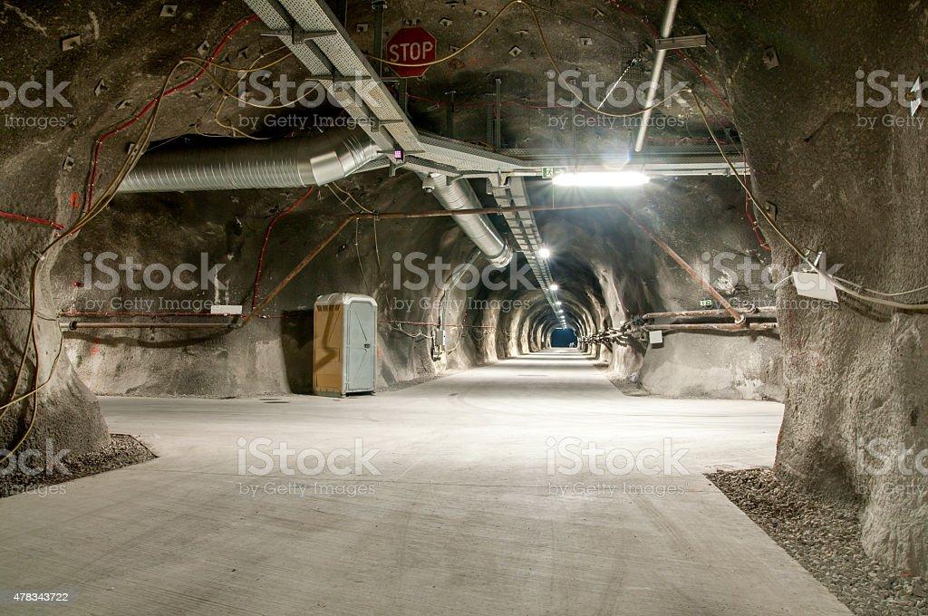 Tunnel junction - Cross roads stock photo