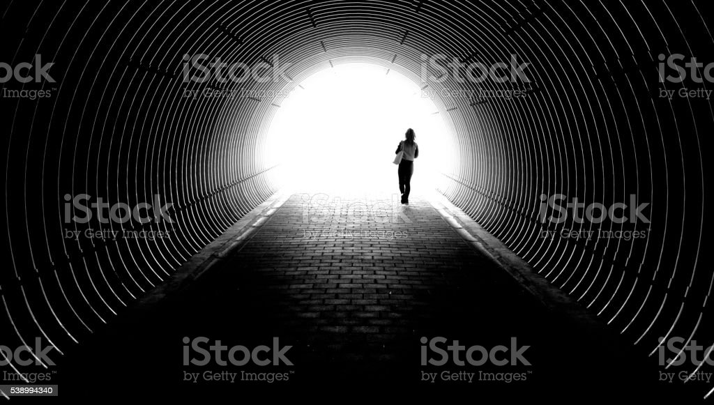 Tunnel, Light, End, New start, A new beginning, Life,  Perspective stock photo