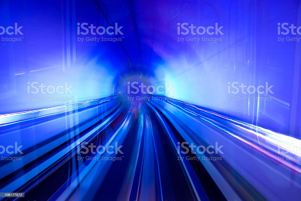 Tunnel of Blue Light royalty-free stock photo
