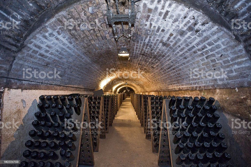 Tunnel Of Champagne stock photo
