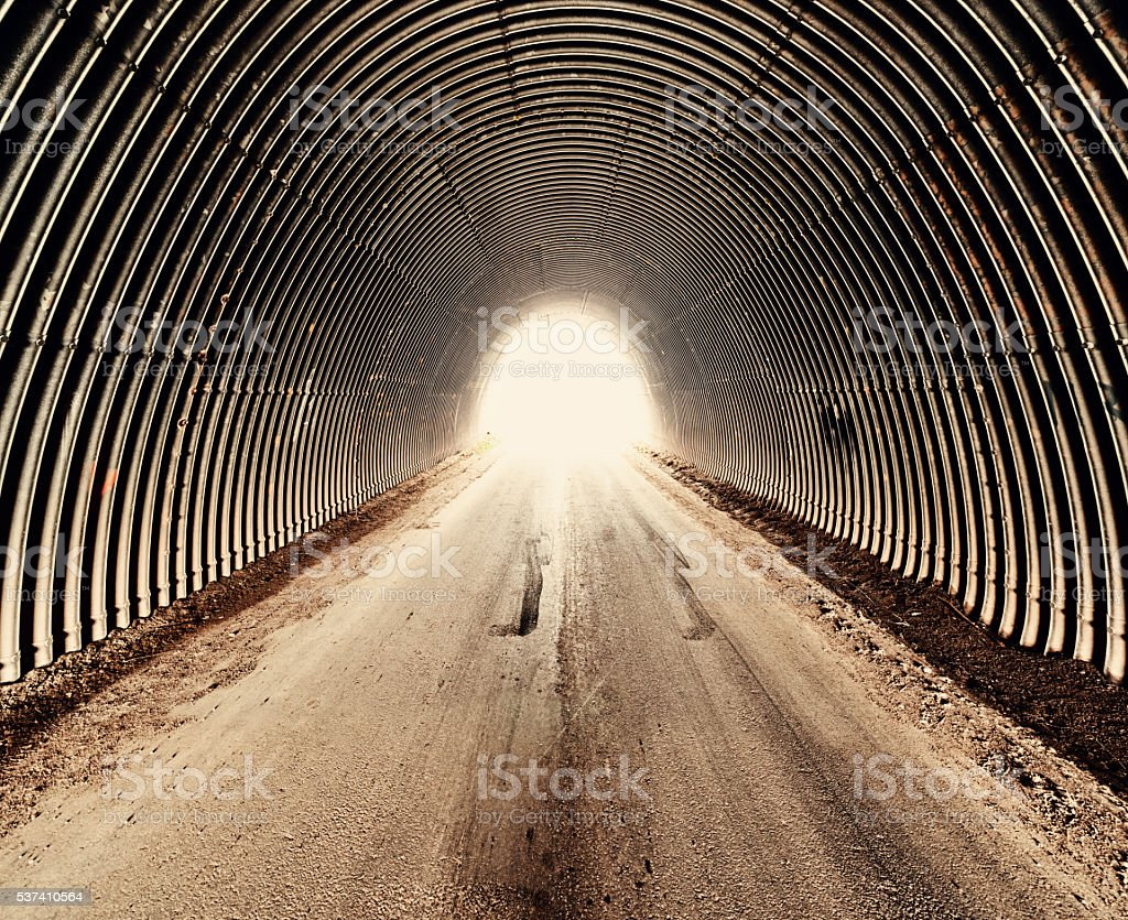 Tunnel of Corrugation stock photo