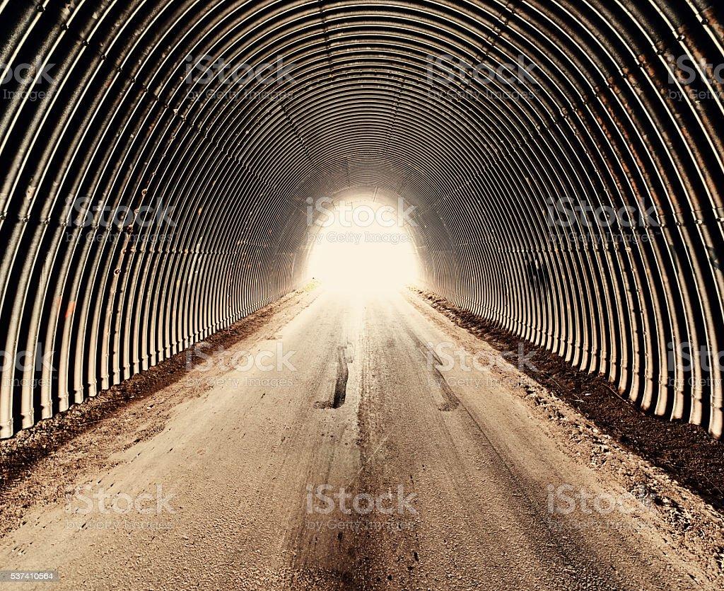 Tunnel of Corrugation stock photo