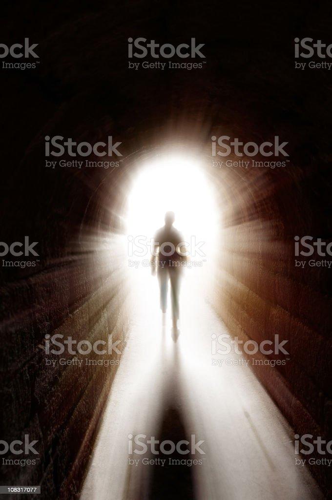 Tunnel of light stock photo