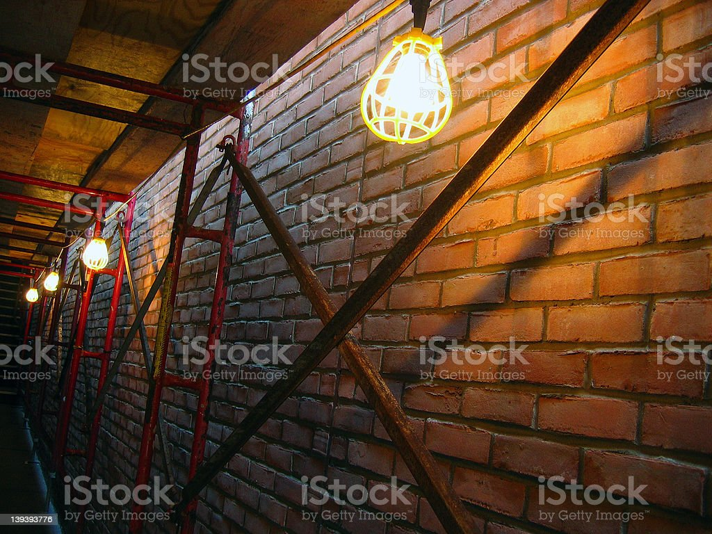 Tunnel Of Lights royalty-free stock photo