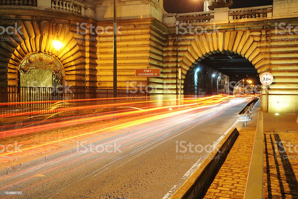 Tunnel of Pont Alexandre III and Metro, Paris- XLarge royalty-free stock photo