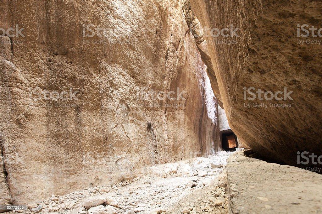 Tunnel of Titus, Antakya, Turkey stock photo