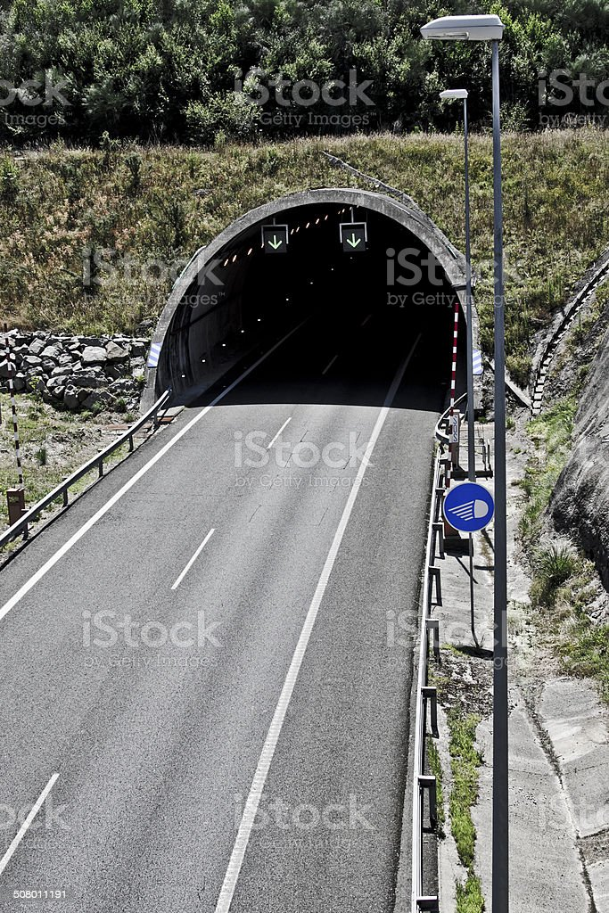 tunnel on the highway royalty-free stock photo