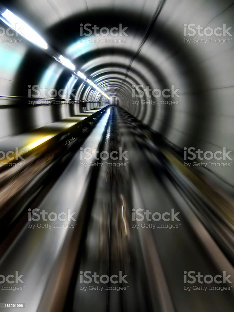 Tunnel (straight) royalty-free stock photo