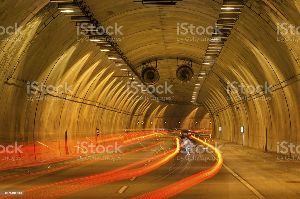 Tunnel royalty-free stock photo