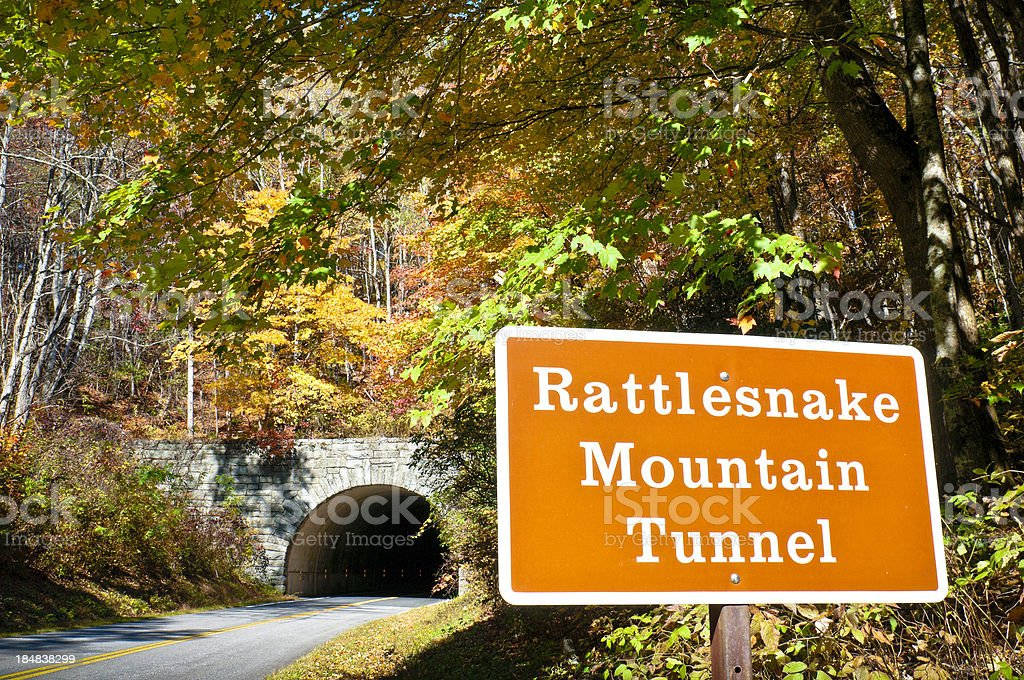 Tunnel, Rattlesnake Mountain, Blue Ridge Parkway, North Carolina, USA stock photo