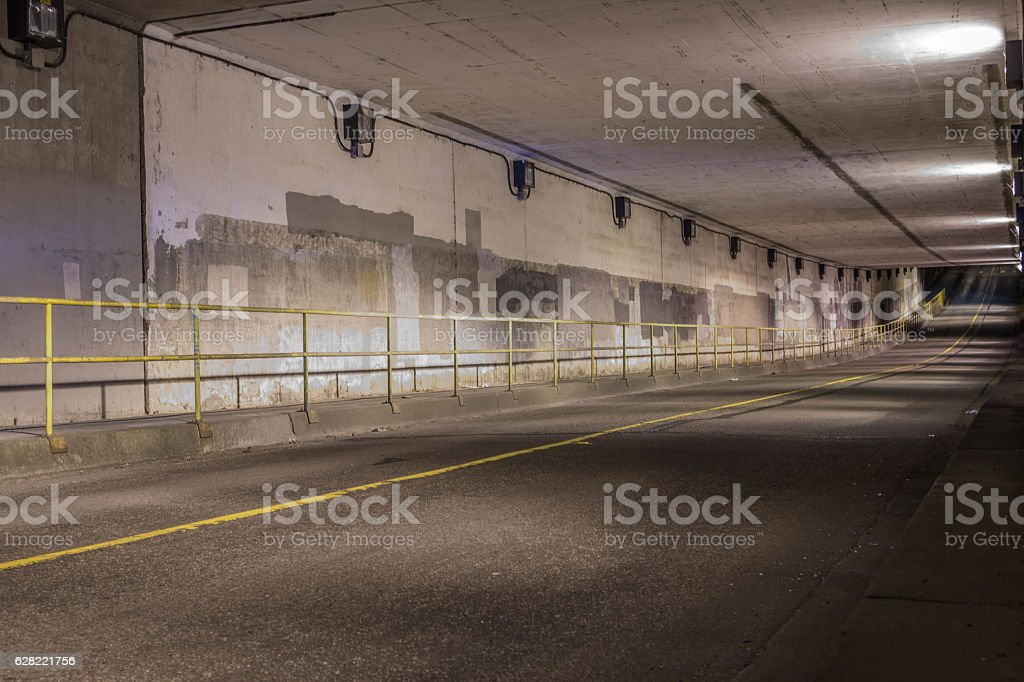Tunnel road passing stock photo