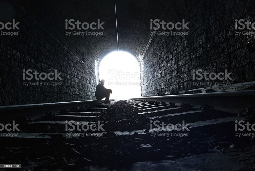 Tunnel silhouette royalty-free stock photo