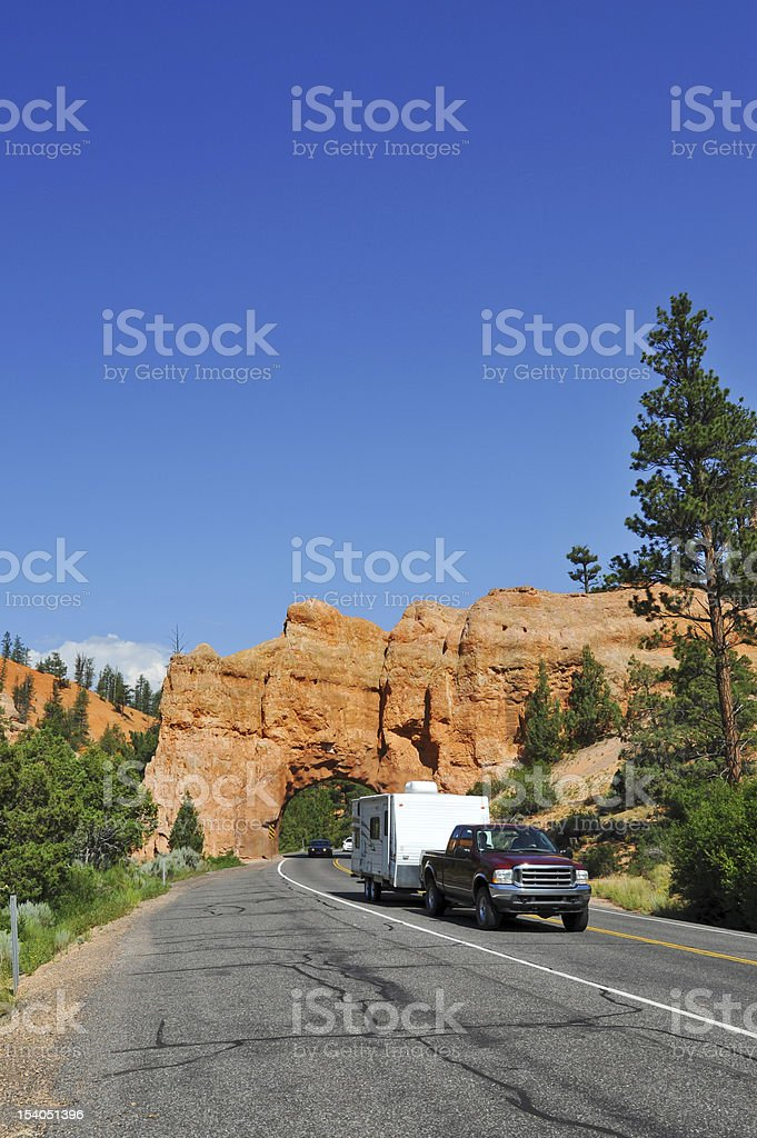 Tunnel to Bryce Canyon National Park royalty-free stock photo