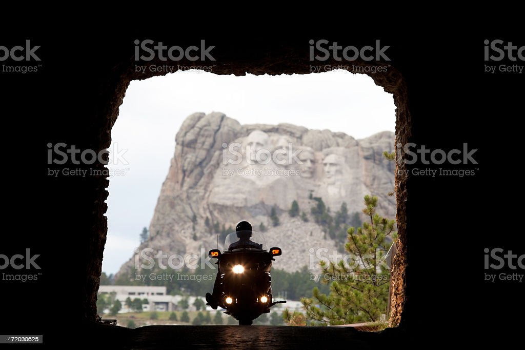 Tunnel View of Mt. Rushmore stock photo