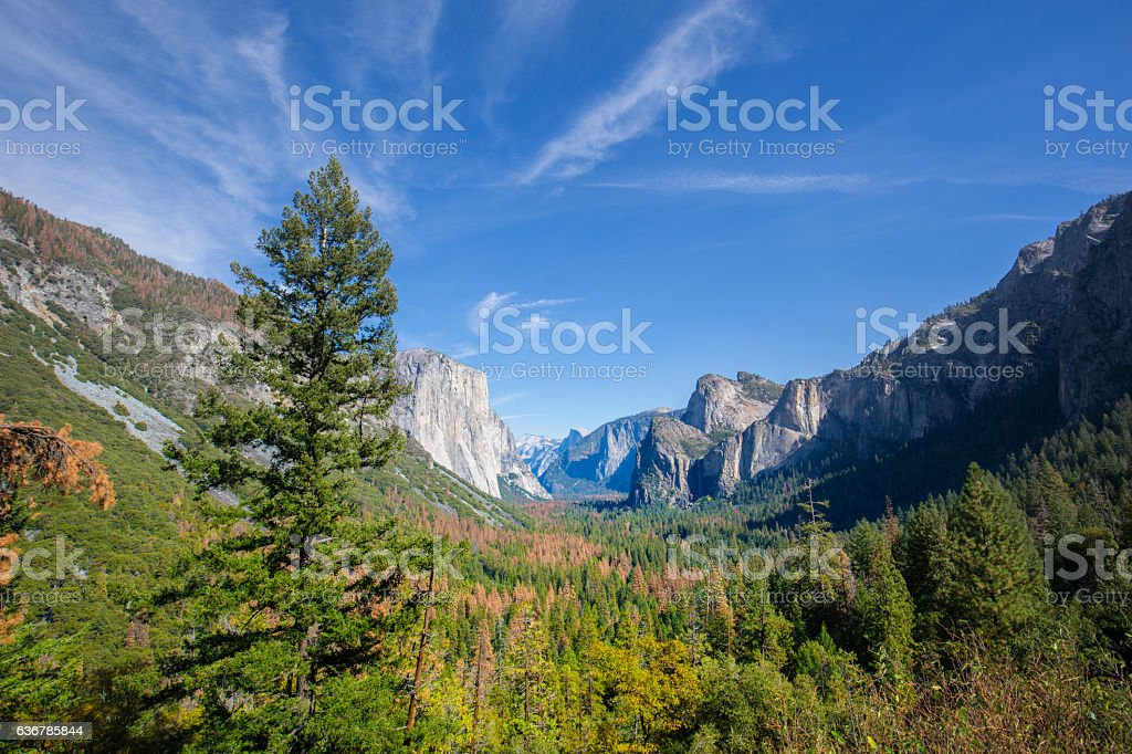 Tunnel View, Yosemite National Park stock photo