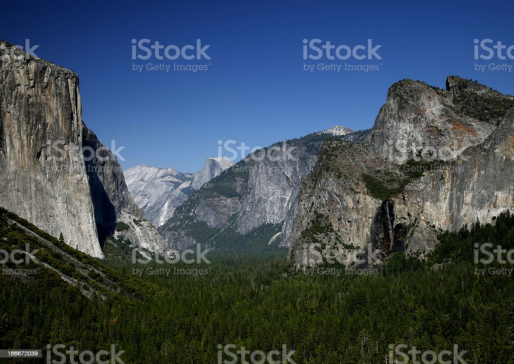 Tunnel View Yosemite Park royalty-free stock photo