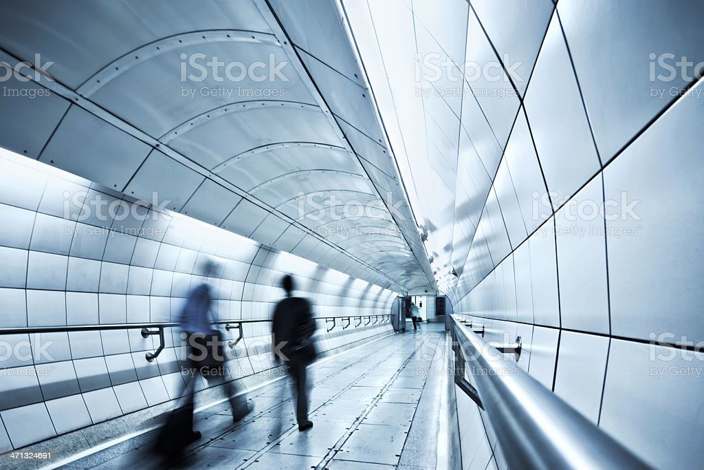 Tunnel Walkway stock photo