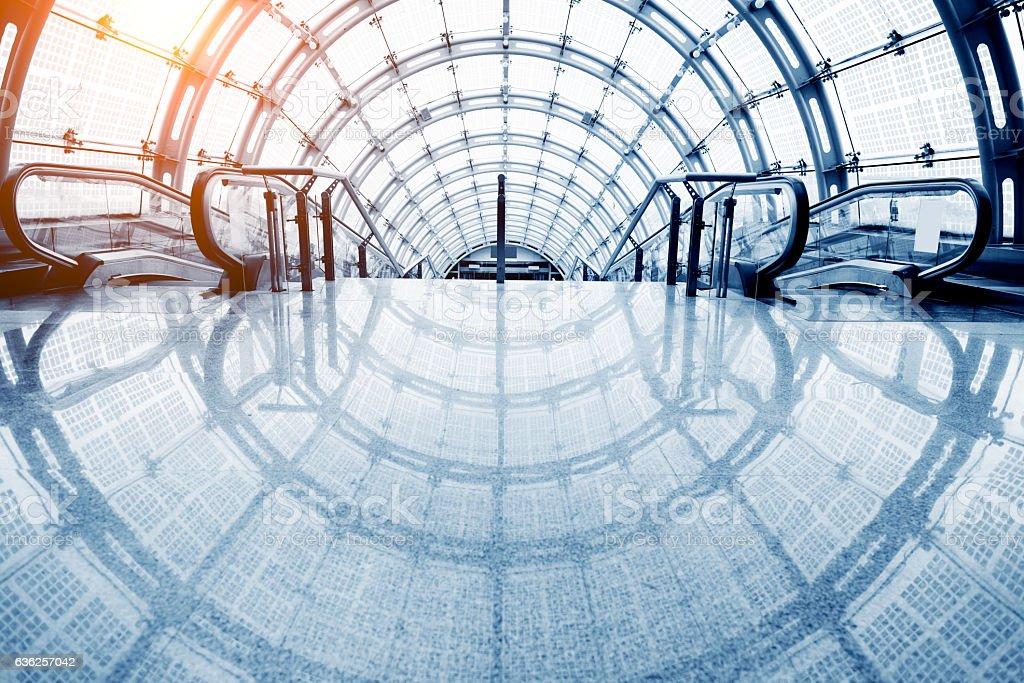 Tunnel walkway stock photo