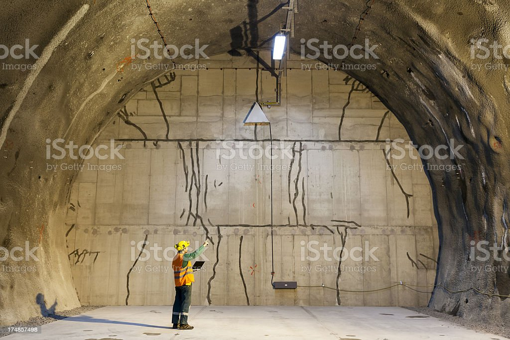 Tunneling engineer stock photo
