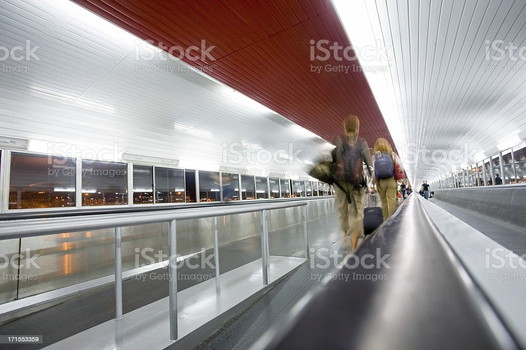 tunnel-walkway royalty-free stock photo
