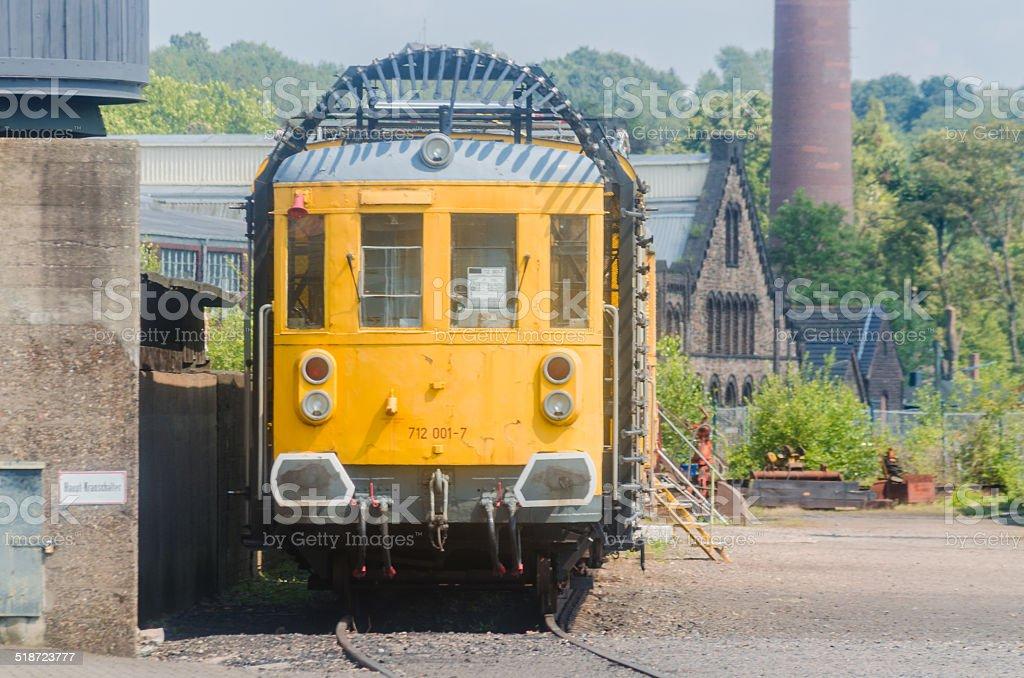 Tunnesl trolley, railway stock photo