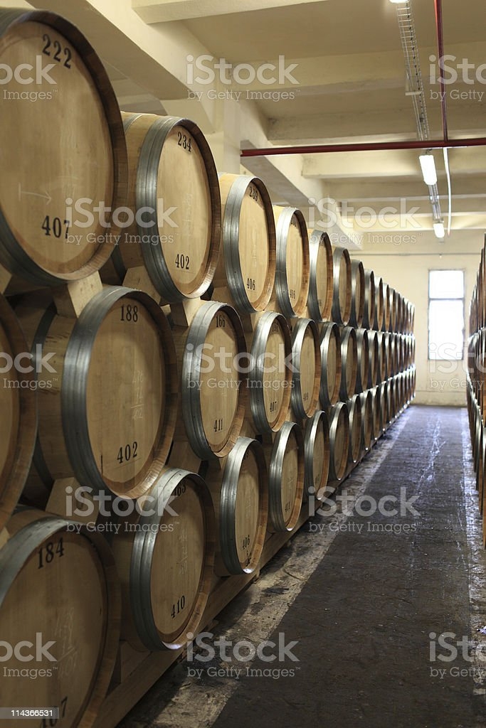 tuns in winery royalty-free stock photo