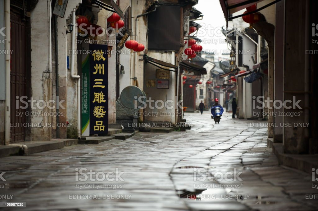 Tunxi ancient street royalty-free stock photo