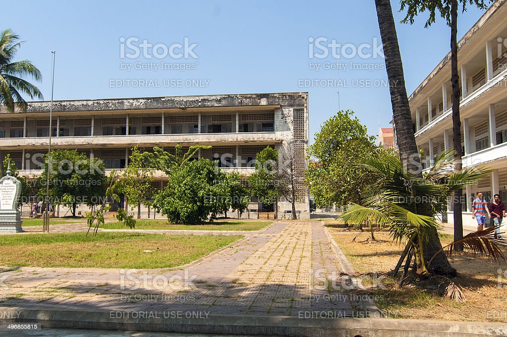 Tuol Sleng Museum stock photo