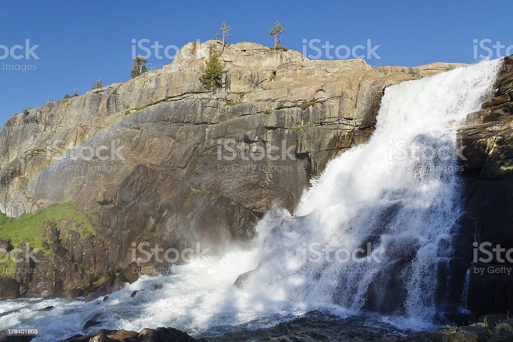 Tuolumne Falls in Yosemite National Park stock photo