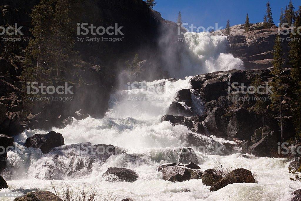 Tuolumne Falls royalty-free stock photo