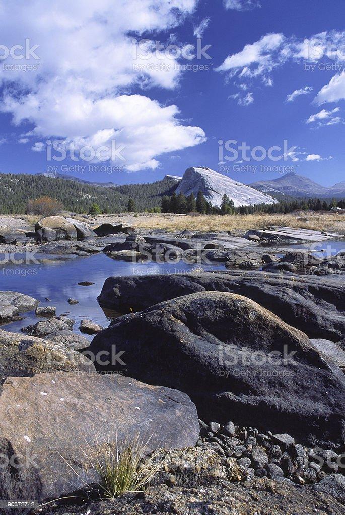 Tuolumne Meadows in Yosemite National Park stock photo