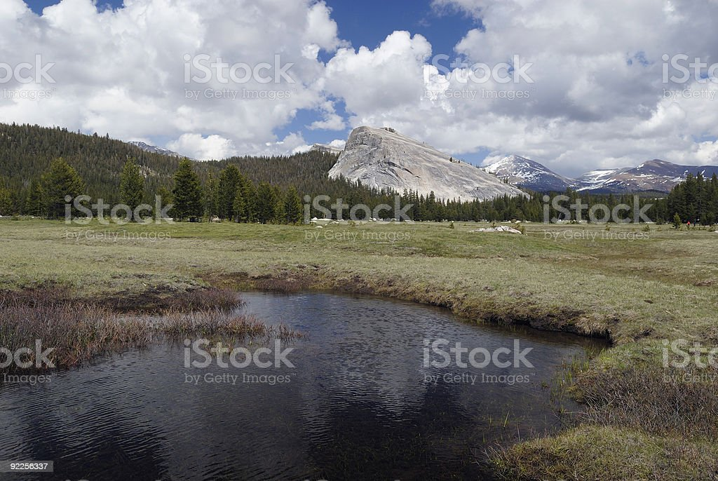 Tuolumne Meadows in Yosemite National Park royalty-free stock photo