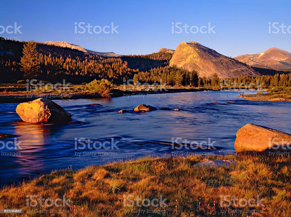 Tuolumne Meadows in Yosemite National Park,CA stock photo