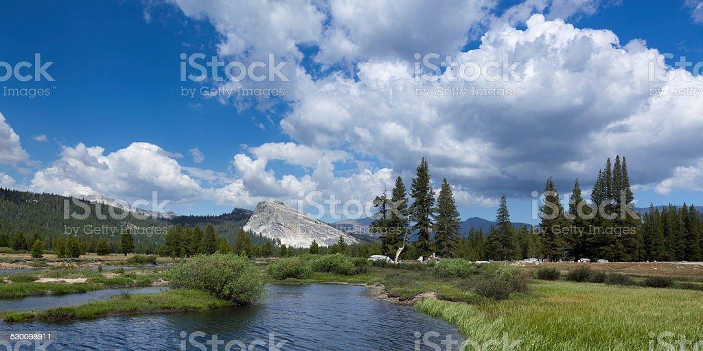 Tuolumne Meadows landscape stock photo
