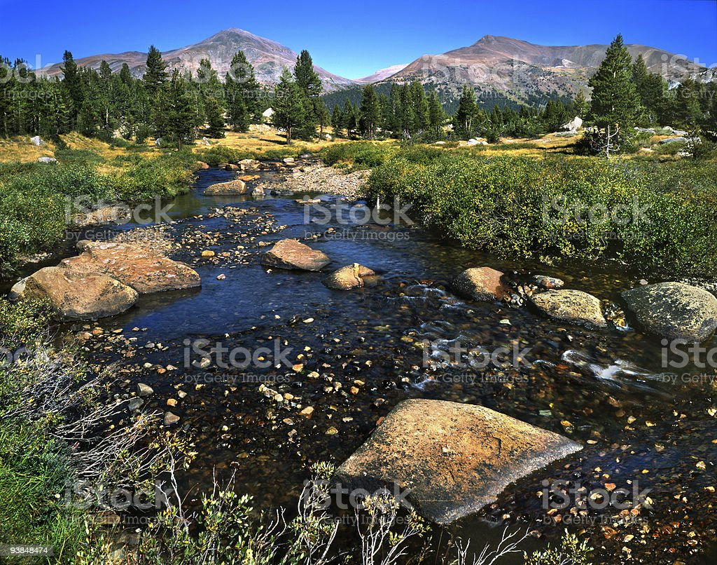 Tuolumne Meadows stock photo