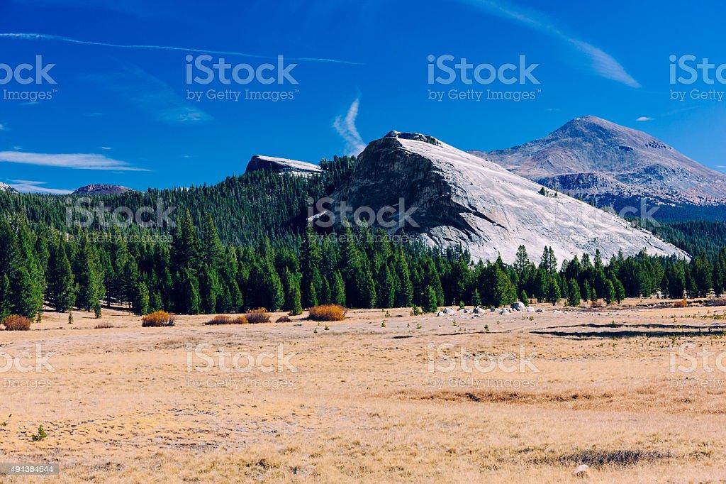 Tuolumne Meadows, Yosemite National Park stock photo