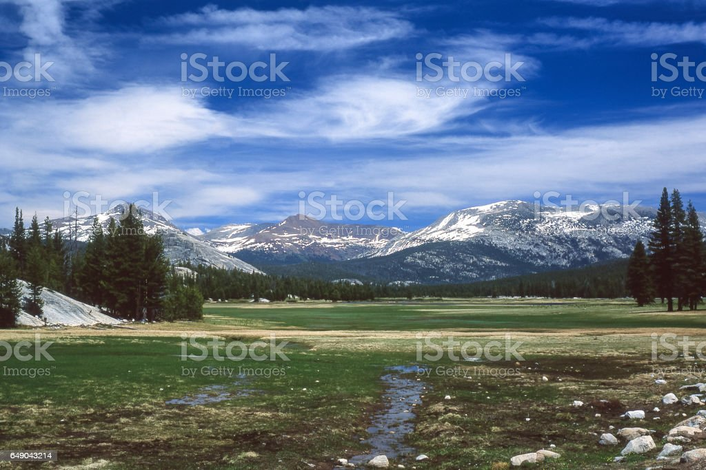 Tuolumne Meadows Yosemite National Park stock photo