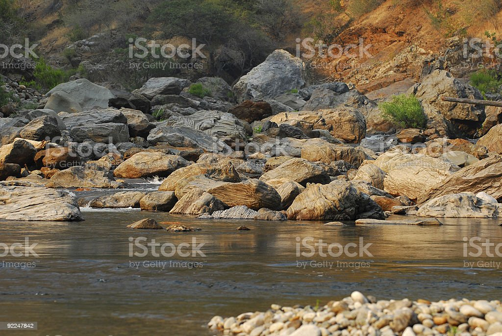 Tuolumne River Confluence at Dusk royalty-free stock photo