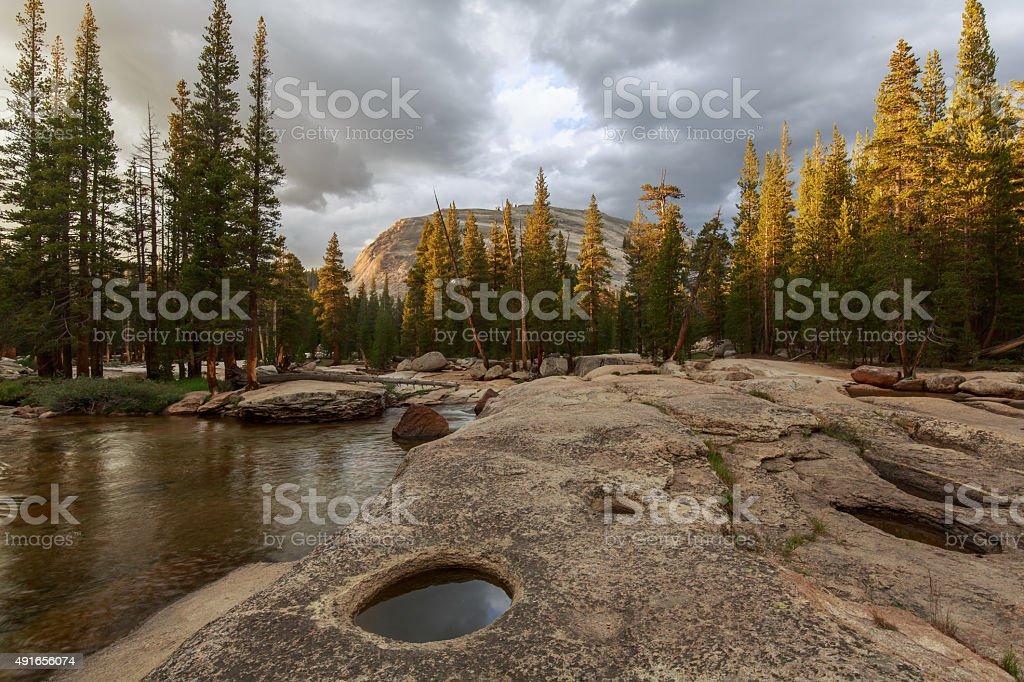 Tuolumne River in Yosemite National Park stock photo